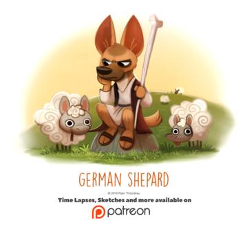Фото Немецкая овчарка постучит овечек, by Cryptid-Creations