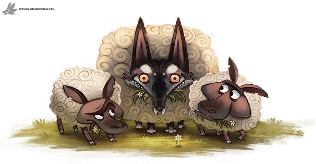 Фото Волк-овечка среди овечек, by Cryptid-Creations