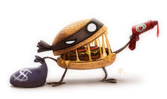 Фото Гамбургер-грабитель, by Cryptid-Creations