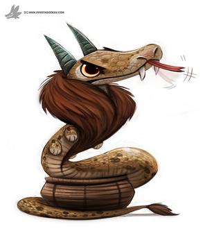 Фото Рогатая змея с шерстью, by Cryptid-Creations