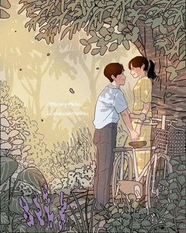 Фото Парень с девушкой стоят у дерева, by 93. minho