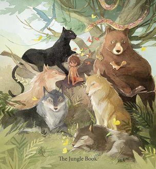 Фото Маугли в окружении животных, by kim. minji. ki204