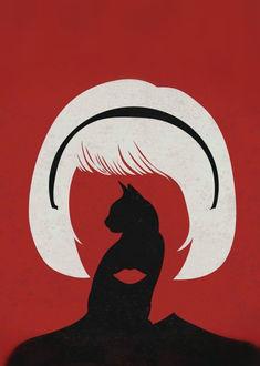 Фото Оригинальный портрет девушки, постер к фильму Леденящие душу приключения Сабрины