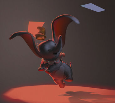 Фото Слоненок Дамбо из мультфильма Дамбо / Dumbo, art by MAZEVET