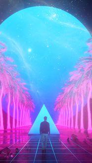 Фото Мужчина идет к таинственному треугольнику, by Mike Winkelmann