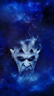 Фото Голова демона на фоне ночного неба, by Pete Linforth
