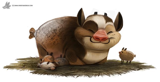 Фото Свинка и ее детки, by Cryptid-Creations