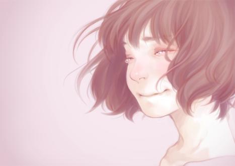 Фото Девушка со слезами радости на глазах