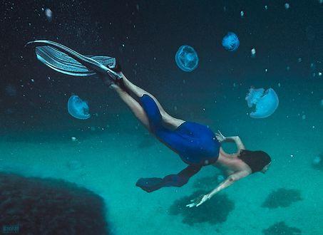Фото Девушка под водой. Фотограф Светлана Беляева