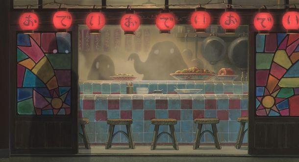Фото Ресторан с духами в другом мире из аниме Унесенные Призраками / Spirited Away, by Hayao Miyazaki
