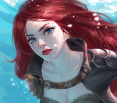 Фото Девушка под водой