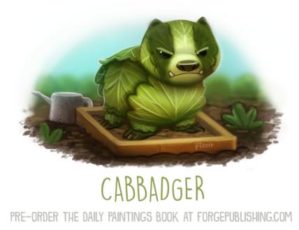 Фото Капустный пек на грядке (Cabbadger), by Cryptid-Creations