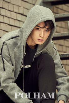 Фото Певец, модель и актер Cha Eun Woo / Ча Ын У участник k-pop группы Astro, фотосессия для Polham, Южная Корея
