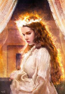 Фото Девушка в светящемся венке, by Razaras