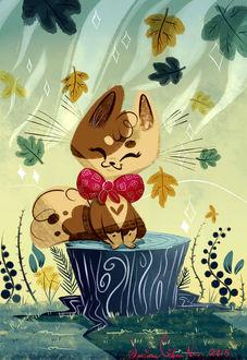 Фото Милый котенок под листопадом, by JessieDrawz
