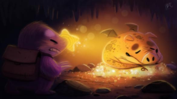 Фото Крот и свино-динозавр под землей, by Cryptid-Creations