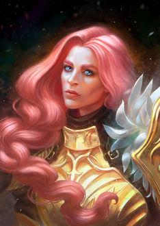 Фото Valkyrie / Валькирия с розовыми волосами, by anndr