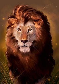 Фото Рисованный лев, by Mellodee