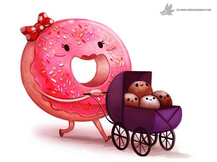 Фото Пончик с коляской на белом фоне, by Cryptid-Creations