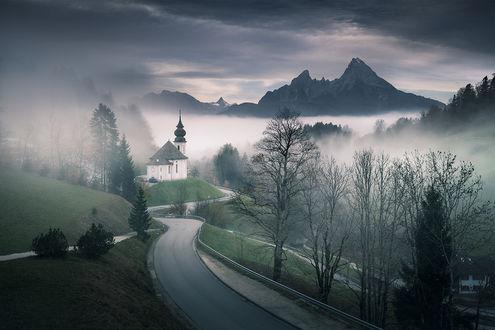 Фото Дорога к церкви Maria Gern / Мария Герн. Фотограф Karol Nienartowicz