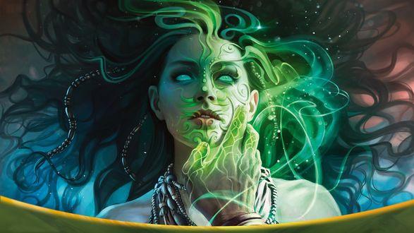Фото Зачарованная магом девушка из игры Magic: The Gathering, by Magali Villeneuve