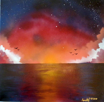 Фото Розовый закат над водой, by A-Bright-Idea