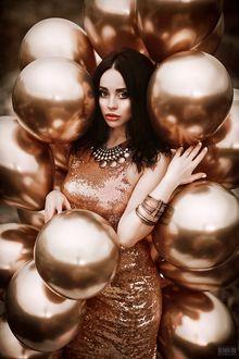 Фото Девушка в окружении воздушных шаров, фотограф Светлана Беляева