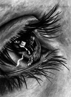 Фото Глаз девушки со слезой. by KJS-1