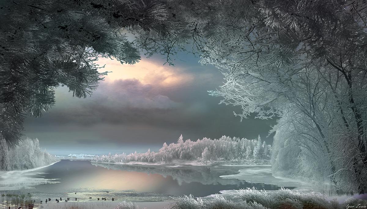 Зимний пейзаж от фотографа Игоря Зенина