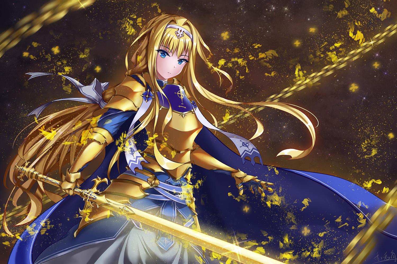 Фото Alice Synthesis Thirty / Алиса Синтезис Сети (Alice Schuberg / Алиса Цуберг) аниме Sword Art Online Alicization / Мастера Меча Онлайн Алисизация