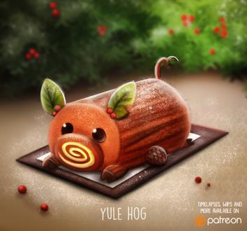 Фото Полено-свинка (Yule Hog), by Cryptid-Creations