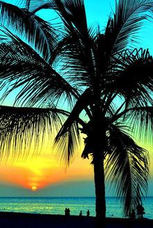 Фото Закат на Гаваях над океаном