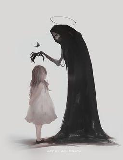 Фото Смерть хочет погладить по голове девочку, by Aoi Ogata