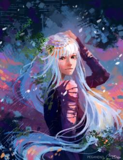 Фото Белокурая девочка с длинными волосами, by PegaNeko