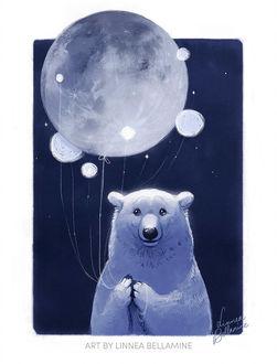 Фото Белый медведь с шарами, by Linzu