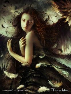 Фото Плачущая девушка-ангел, by dalisacg