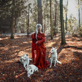 Фото Модель Хлоэ Де Витте с собаками. Фотограф Червона Ворона