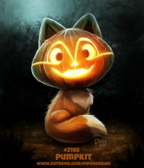 Фото Лисичка с тыквенной головой Джека (Pumpkit), by Cryptid-Creations