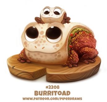 Фото Две лягушки-бурито на досточке (Burritoad), by Cryptid-Creations