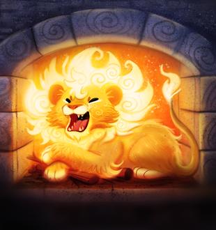 Фото Горящий огонь в камине в виде льва, by Cryptid-Creations