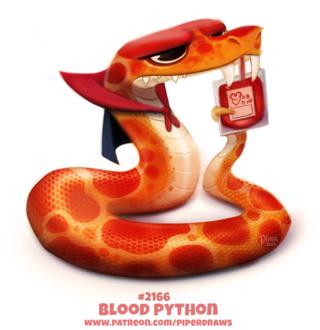 Фото Питон-дракула пьющий кровь (Blood Python), by Cryptid-Creations