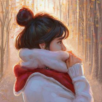 Фото Девушка в зимней одежде, by Mandy Jurgens
