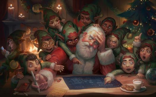 Фото Замученный эльфами Санта-Клаус / Santa Claus, by Giselle Almeida