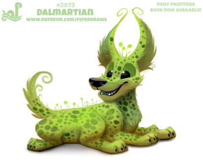 Фото Зеленый пришелец далматинец (Dalmartian), by Cryptid-Creations