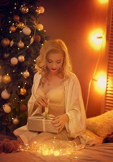 Фото Девушка с подарком в руках. Фотограф Алена Кучер