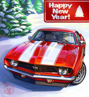 Фото Автомобиль на снегу, (happy new year / счастливого нового года), by Aleksandr Sidelnikov
