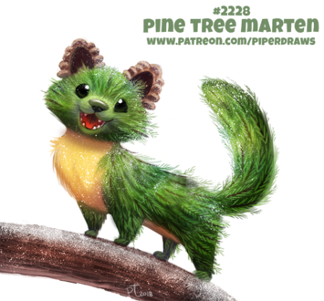Фото Сосна куница на ветке (Pine Tree Marten), by Cryptid-Creations