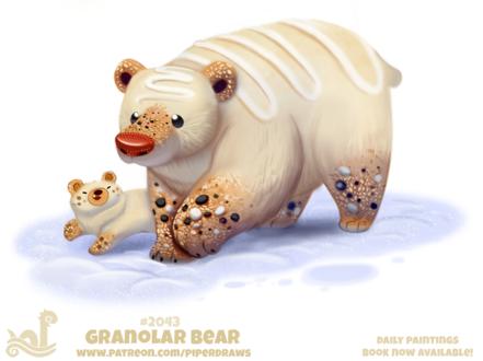 Фото Съедобная белая медведица и медвежонок (Granolar Bear), by Cryptid-Creations