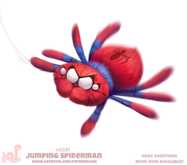 Фото Паук в образе человека-паука (Jumping Spiderman), by Cryptid-Creations