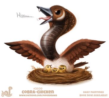 Фото Кобра-курица и ее цыплята (Cobra Chicken), by Cryptid-Creations (© Мася-тян), добавлено: 30.12.2018 01:01